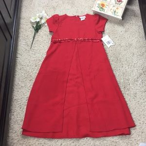 Rare Editions Girls Red Dress Size 12